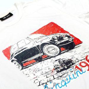 t-shirt bianca uomo cinquecento