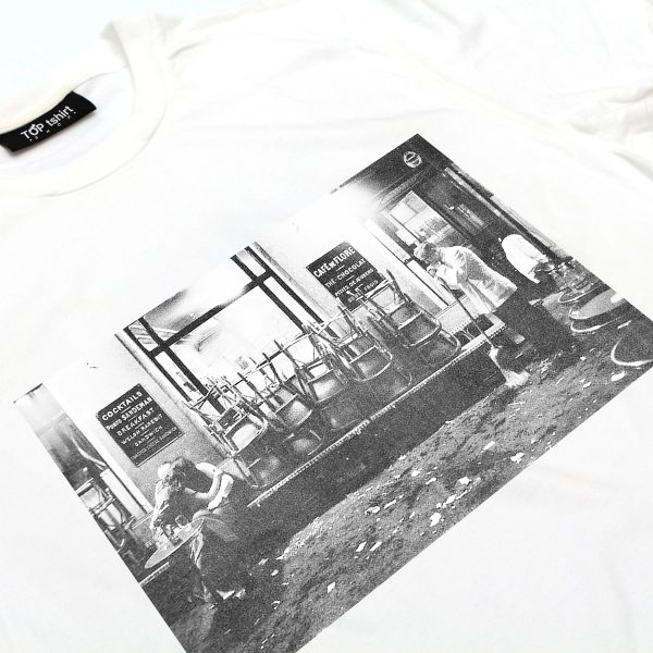 t-shirt bianca uomo cafè de flore