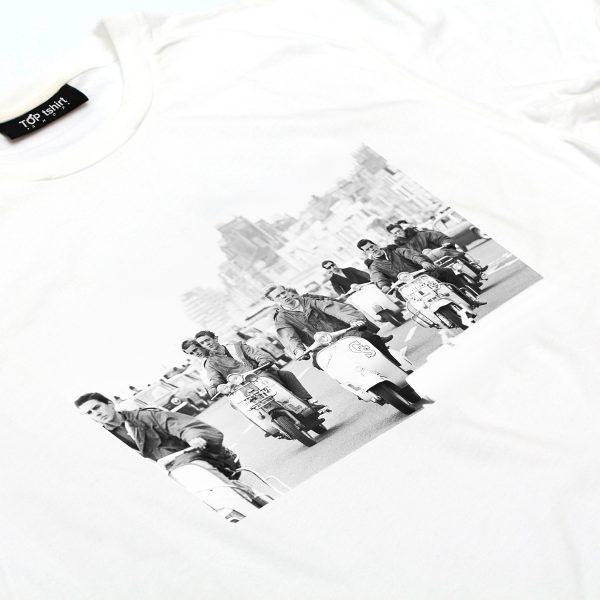 t-shirt bianca uomo mods brighton