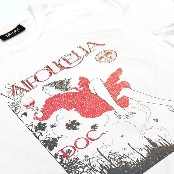 t-shirt bianca uomo stampa valpolicella doc