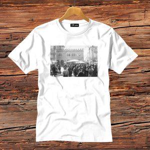 t-shirt bianca uomo volti piazza erbe verona