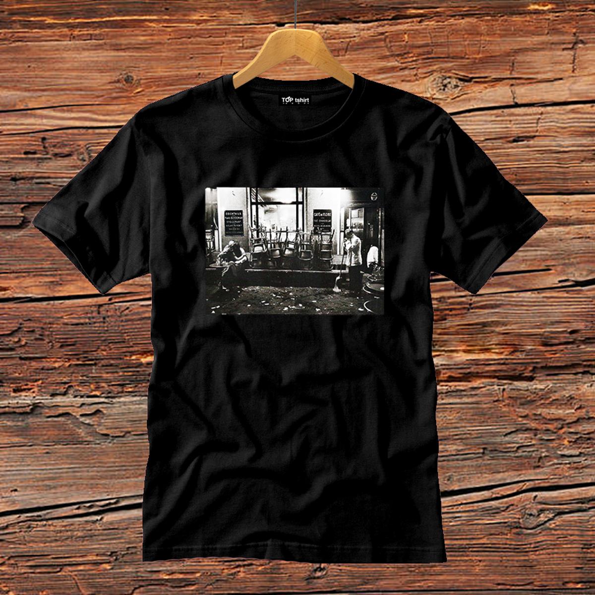 t-shirt nera uomo cafè de flore